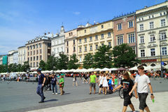 Oude stad Krakau in Polen Stock Afbeeldingen