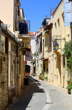 Oude stad in Kreta Royalty-vrije Stock Afbeelding