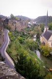 Oude Stad Luxemburg royalty-vrije stock afbeelding