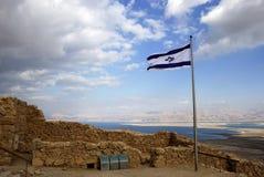 Oude stad Masada Stock Afbeeldingen