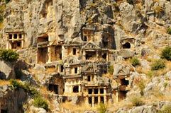 Oude stad in Myra, Turkije Royalty-vrije Stock Afbeelding