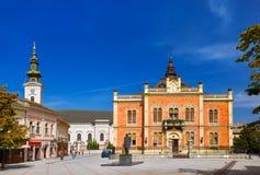 Oude stad in Novi Sad - Servië Stock Afbeelding