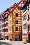 Oude Stad, Nuremberg stock afbeeldingen