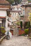 Oude stad Ohrid Stock Afbeeldingen