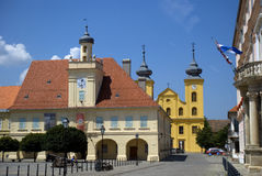 Oude stad, Osijek, Kroatië Stock Fotografie