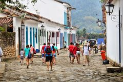 Oude Stad Paraty stock afbeelding