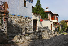 Oude stad in Plovdiv Stock Afbeelding