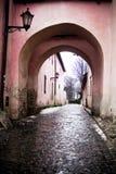 Oude stad, Poprad, Slowakije stock foto's