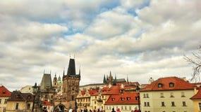 Oude Stad in Praag Royalty-vrije Stock Afbeeldingen