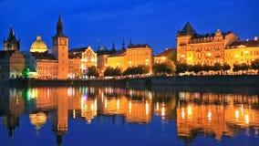 Oude stad in Praag, Tsjechische republiek stock video