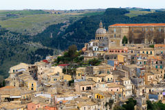 Oude Stad in Ragusa, Italië Stock Foto