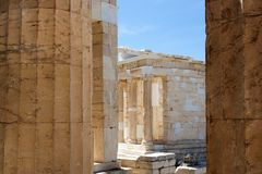 Oude stad, reis Grieks Europa, Royalty-vrije Stock Foto's