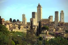 Oude stad San Gimignano Stock Foto's