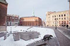 Oude stad, stadscentrum, volkeren en architectuur Straten en aard royalty-vrije stock afbeelding