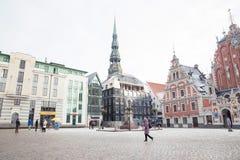 Oude stad, stadscentrum, volkeren en architectuur Straten en aard royalty-vrije stock foto's