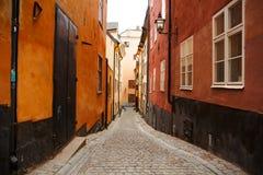 Oude stad in Stockholm royalty-vrije stock foto