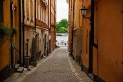 Oude stad in Stockholm royalty-vrije stock foto's