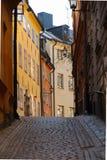 Oude Stad in Stockholm in de lente Stock Afbeelding