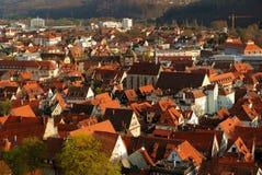 Oude stad Stuttgart-Esslingen Stock Foto's