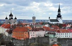 Oude stad in Tallinn, Estland Royalty-vrije Stock Afbeeldingen