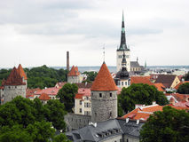Oude stad Tallinn in Estland stock foto
