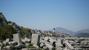 Oude stad Thermessos dichtbij Antalya in Turkije stock footage