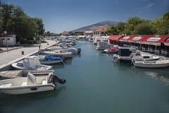 Oude stad in Trogir, Kroatië royalty-vrije stock foto's