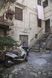 Oude stad in Trogir, Kroatië stock afbeeldingen