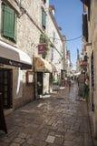 Oude stad in Trogir, Kroatië stock afbeelding