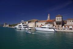 Oude stad Trogir, Kroatië Stock Foto