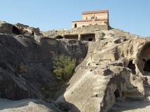 Oude stad Uplistsikhe, Georgië royalty-vrije stock afbeelding