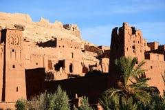 Oude stad van AITbenhaddou, Marokko Stock Afbeeldingen
