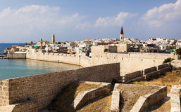 Oude stad van Akko in de ochtend israël Royalty-vrije Stock Fotografie
