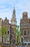 Oude stad van Amsterdam, Nederland Royalty-vrije Stock Foto's