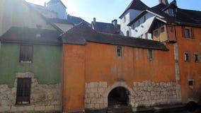 Oude stad van annecy, savooiekool, Frankrijk stock afbeelding