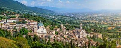 Oude stad van Assisi, Umbrië, Italië stock afbeelding