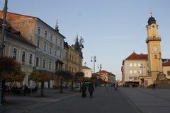 Oude stad van Banska Bystrica, centraal Slowakije stock foto's