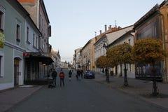 Oude stad van Banska Bystrica, centraal Slowakije stock foto