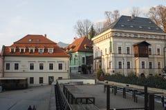 Oude stad van Banska Bystrica, centraal Slowakije royalty-vrije stock afbeelding