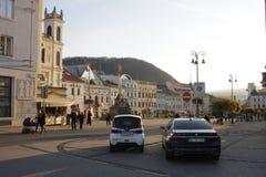 Oude stad van Banska Bystrica, Slowakije, Europa royalty-vrije stock foto's