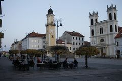 Oude stad van Banska Bystrica, Slowakije, Europa stock foto