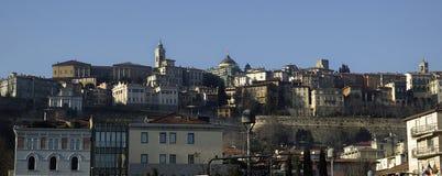 Oude stad van Bergamo in Italië royalty-vrije stock afbeelding