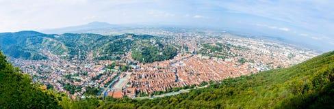 Oude stad van Brasov in het gebied van Transsylvanië van Roemenië Royalty-vrije Stock Afbeeldingen