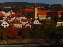 Oude Stad van Cesky Krumlov Stock Foto's