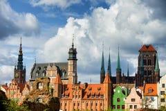 Oude Stad van de Horizon van Gdansk Royalty-vrije Stock Foto