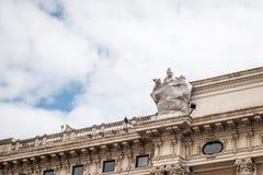 Oude stad van de mening van Rome Stock Afbeelding