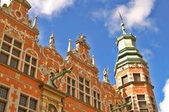 Oude stad van de stad van Gdansk, Polen Stock Foto's