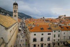 Oude Stad van Dubrovnik in Kroatië stock foto's