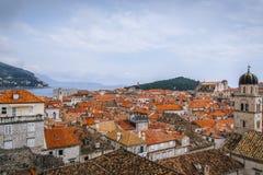 Oude Stad van Dubrovnik in Kroatië stock afbeeldingen