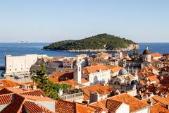 Oude stad van Dubrovnik, Kroatië Stock Afbeeldingen